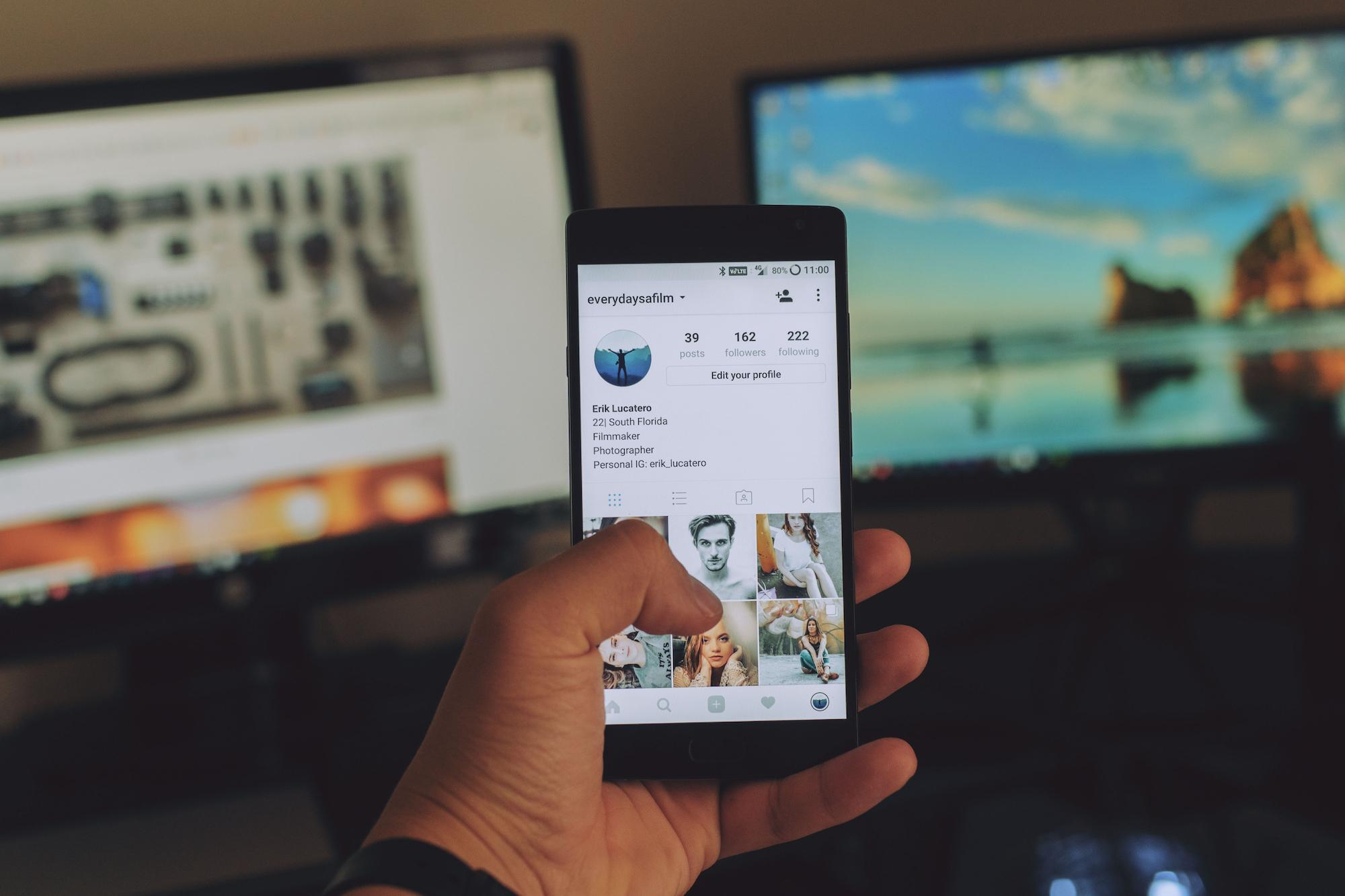 Social Media Account Management Device